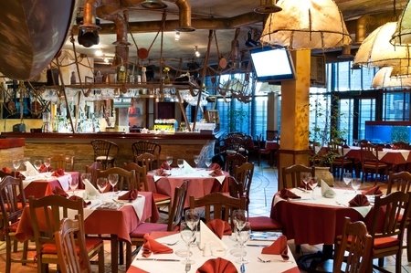 Italian restaurant with a traditional interior Stock Photo - 9583114