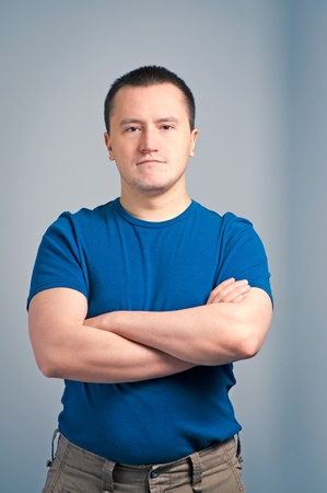 Portrait of an adult man standing with a confident face Stock Photo - 9899808