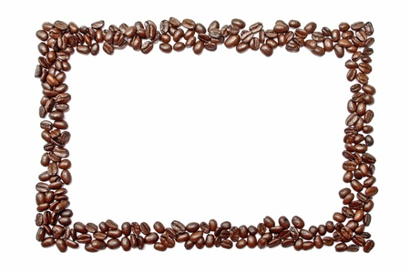 an edge: Frame made out of coffee beans