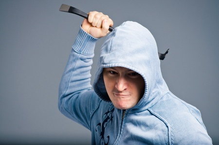 bar tool: The aggressive bandit with a crowbar