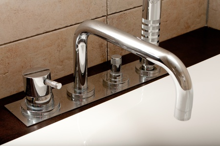 Modern bathroom faucet photo