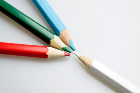Concept of a colored pencils photo