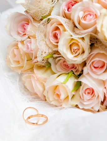 wedding bouquet: This is closeup of wedding bouquet Stock Photo