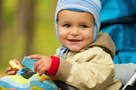 Portrait of little baby boy in the park Stock Photo - 11881391