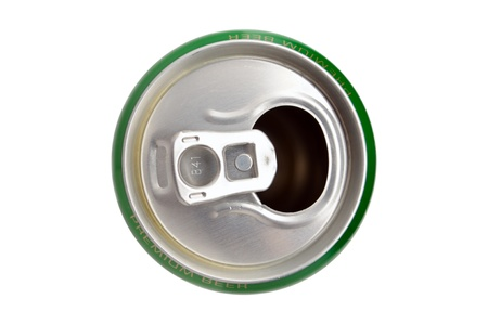 This is Aluminum can isolated on white background photo
