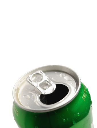 inhibited: This is Aluminum can isolated on white background Stock Photo