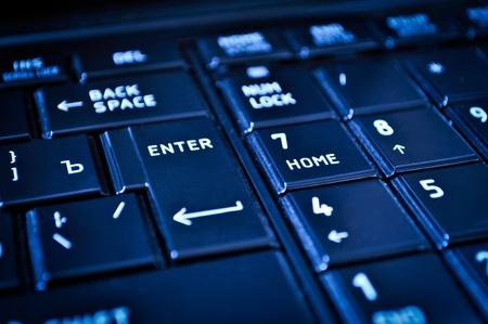 shortcut: This is closeup of a dark keyboard