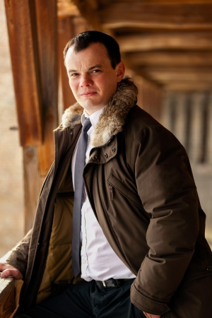 Portrait of a handsome young man standing - outdoor Stock Photo - 14449615