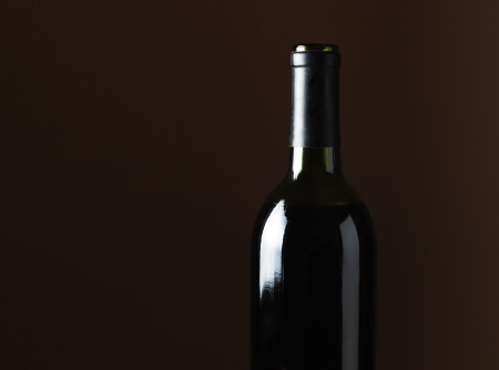 winy: Wine bottle with empty space for your text