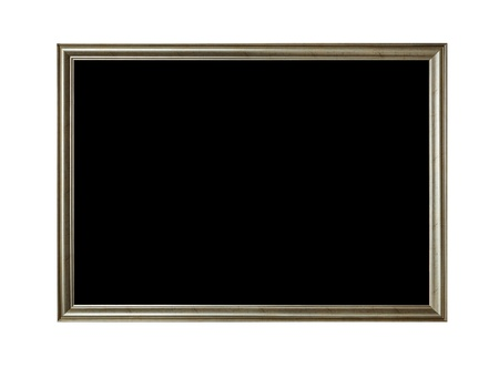 Frame of old-style baget isolated on white photo