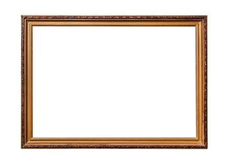 Frame of old-style baget isolated on white background. photo