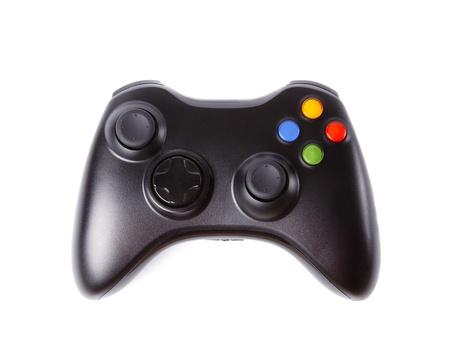 gamepad: Black Gamepad isolated on white background.