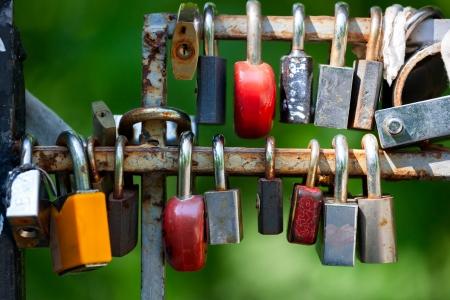 locks: Many Love locks on the bridge - symbol of love