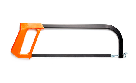 saws: Hacksaw isolated on the white background.