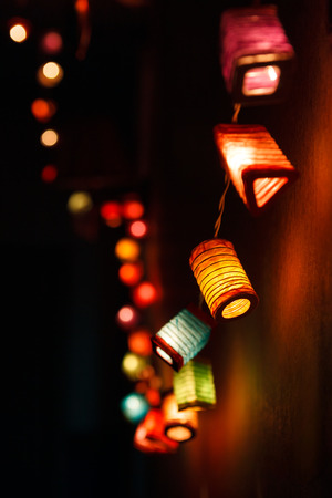 Christmas light background with copy space photo