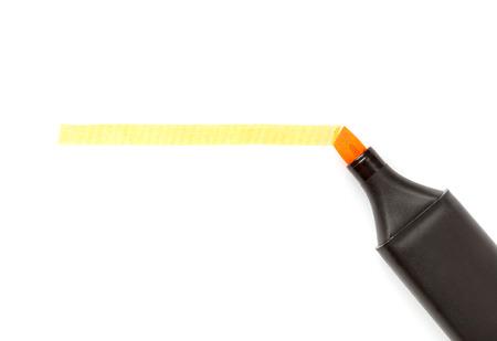 Orange highlighter isolated over white.