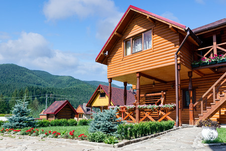chalets: Hotel in Carpatian Mountains. Ukraine.