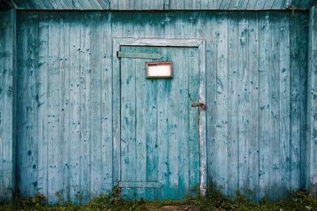 Oude houten schuur deur. Stockfoto