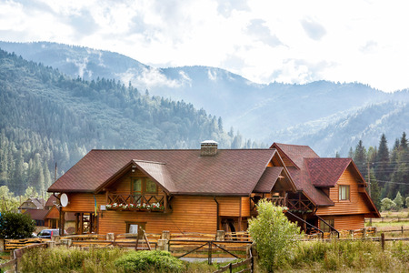 Hotel in Carpatian Mountains. Ukraine. photo