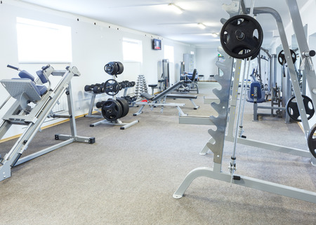 weight machine: Fitness club interior.