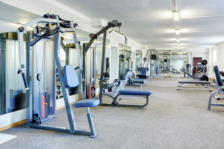 Fitness club interior.
