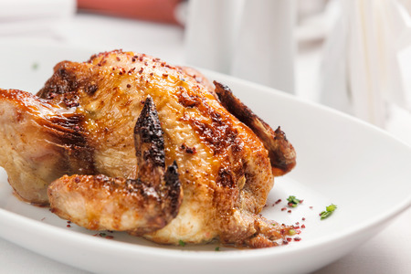 baked chicken: Baked chicken. Stock Photo