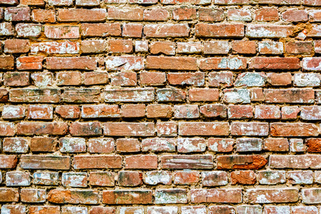 bricks background: Old red bricks background. Stock Photo