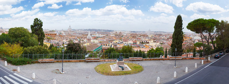 trinita: Rome Panoramic view from Viale Della Trinita dei Monti. Editorial