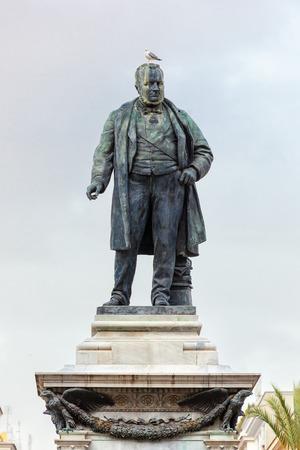 camillo: Camillo Benso di Cavour monument on Piazza Cavour. Editorial