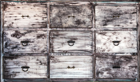 drawers: This is vintage white painted wooden drawers.