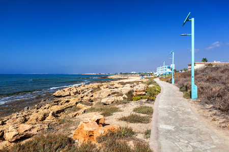 CYPRUS, AYIA NAPA - SEPTEMBER 20 2016: coast line of Ayia Napa district. Editorial