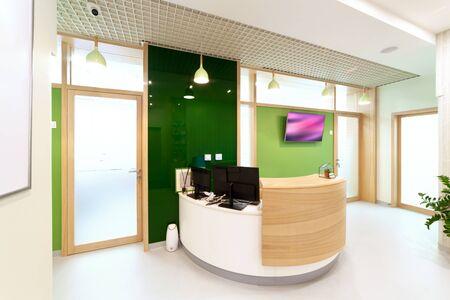 Modern interior design. Lobby at  dental clinic. 免版税图像