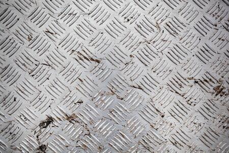 Close up of ribbed aluminum sheet texture. 免版税图像
