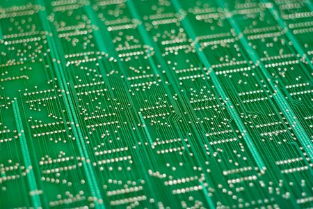 Large circuit board with shallow depth of field Imagens