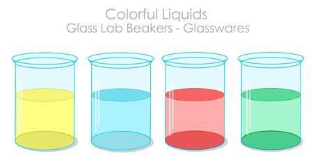 Transparent shiny lab bottle. Vectores