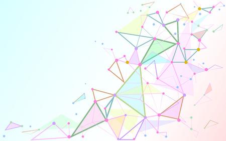 Abstracte driehoeken ruimte laag poly. Witte achtergrond met het verbinden van punten en lijnen.