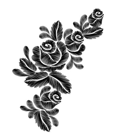 Black roses embroidery on white background ethnic flowers neck black roses embroidery on white background ethnic flowers neck line flower design graphics fashion wearing mightylinksfo