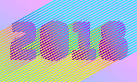 Bright stripe 2018 New Year number. Disco retro trendy style design. Parallel neon color line. Gradient vibrant shadow illusion vector illustration Illustration