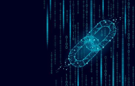 Blockchain cryptocurrencies wereldwijd netwerktechnologieontwerp. Vector Illustratie