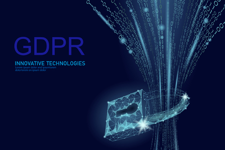 Privacy data protection law GDPR. Data regulation sensitive information safety shield European Union. Right to be forgotten removing genetic encryption. Global business ePrivacy vector illustration