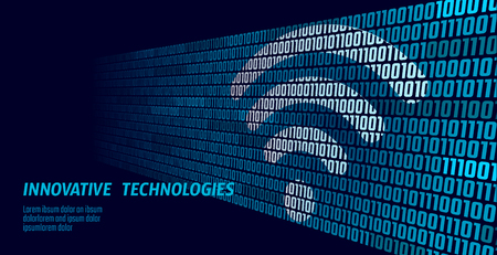 Wireless internet wifi connection. Big data binary code flow numbers. Global network high speed innovation connection data rate technology vector illustration