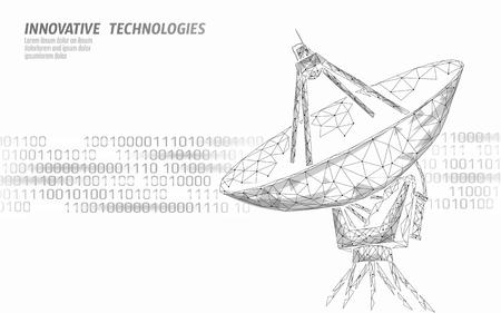 Internet security antivirus system. Low poly polygonal radar personal data security. Hacker attack detection vector illutration art Vector Illustration