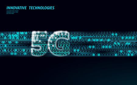 5G data flow high speed internet web telecommunication tower global connection information transmitter. Mobile radio antenna cellular vector illustration