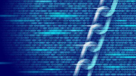 Concepto de símbolo de negocio blockchain. Seguridad de la información de las finanzas de la red de conexión en cadena. Diseño geométrico poligonal poligonal bajo 3D. Ilustración de vector en línea de comercio electrónico de tecnología global.