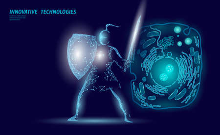Science biology gene modifying concept. Laser operation virtual reality modification. Futuristic medicine research gene therapy health analysis vector illustration