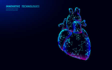 A healthy heart beats in low poly