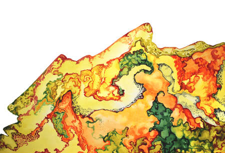 Watercolor gemstones texture. Golden jewel stones. Texture luxury bright metal. Print hand drawn background template Reklamní fotografie