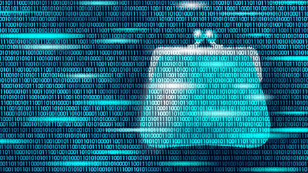 Programming online money wallet. Online market trade concept. Data flow binary code. E-commerce finance banking profit system icon vector illustration