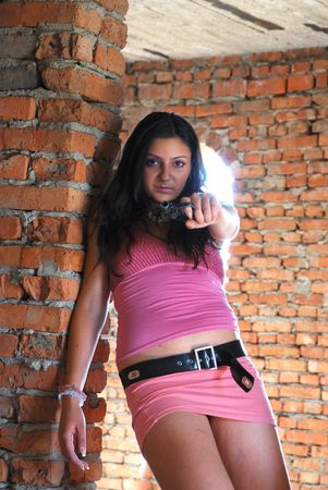 stab: The fighting girl with a pistol