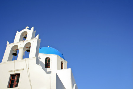 Blue Domed Church with Bell Tower